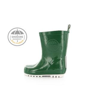 Shoesme Shoesme regenlaarsje donker groen met gratis Fleece sock