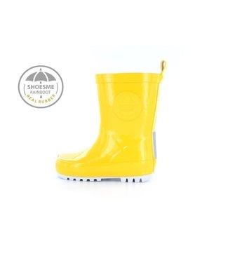 Shoesme Shoesme regenlaarsje Geel met gratis Fleece sock