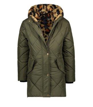 Like Flo Like Flo Girls long Hooded jacket army