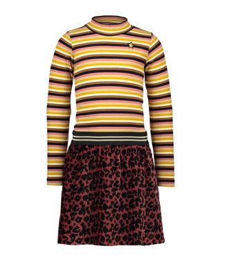 Like Flo Like Flo Girls velvet dress rust