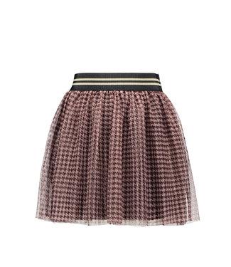 Like Flo Like Flo Girls mesh skirt bordeaux