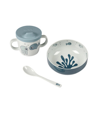 Done by Dear Done by Dear First meal set Sea friends blue