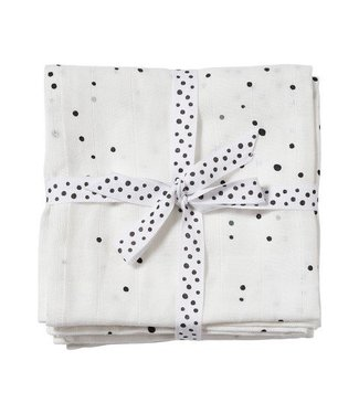 Done by Dear Done by Dear Burp cloth, 2-pack Dreamy dots white