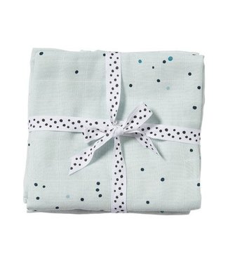 Done by Dear Done by Dear Burp cloth, 2-pack Dreamy dots blue