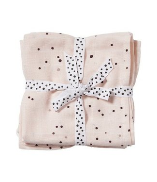 Done by Dear Done by Dear Burp cloth, 2-pack Dreamy dots Powder