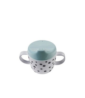 Done by Dear Done by Dear 2-handle spout cup happy dots blue