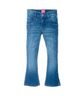 Jubel Jubel Winter Denims flared broek donkerblauw denim