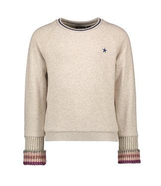 Like Flo Like Flo Girls sweater oatmeal