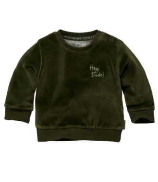Quapi Quapi Newborn Jongens Zane sweater forest green