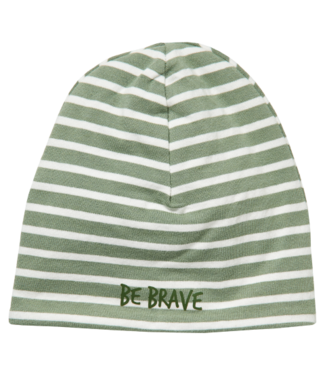 Quapi Quapi Newborn Jongens Zoran mutsje dusty green stripe