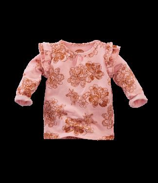 Z8 Z8 Newborn Geranium - Rocky rose/AOP shirtje