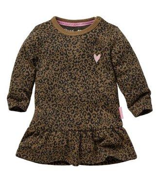 Quapi Quapi Newborn Meisjes Zanne jurkje taupe leopard