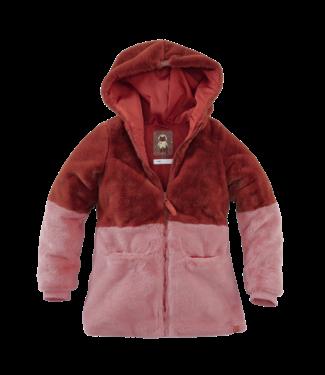 Z8 Z8 Girls teddy jacket Cora-Burnt brick/Misty rose