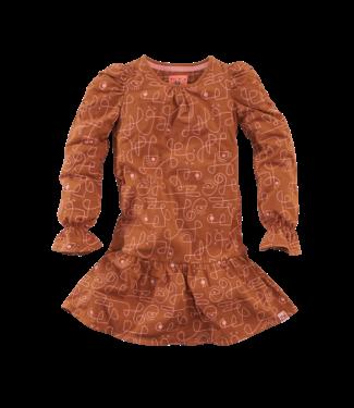 Z8 Z8 Girls jurkje Siske-Copper blush/AOP