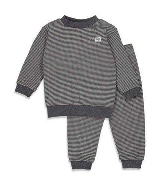 Feetje Feetje Pyjama wafel antraciet autumn special 305.533