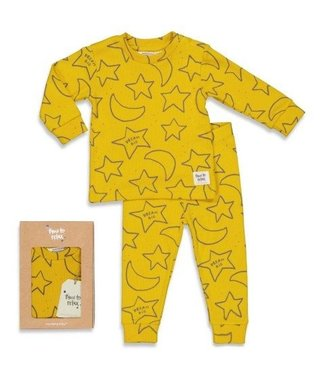 Feetje Feetje premium sleepwear pyjama Star Skylar okergeel 505.00049