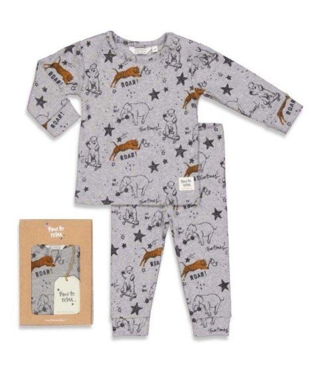Feetje Feetje premium sleepwear pyjama Roar Riley grijs 505.00048