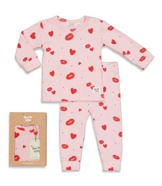 Feetje Feetje premium sleepwear pyjama Love Lesley roze 505.00047