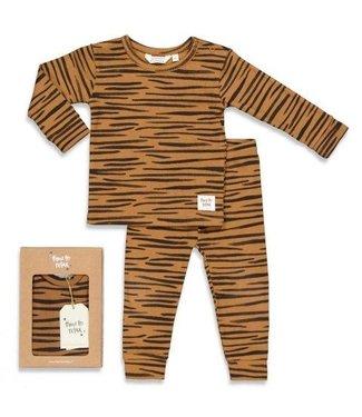 Feetje Feetje premium sleepwear pyjama Tiger Taylor camel 505.00046
