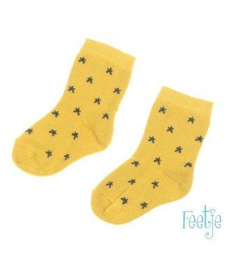 Feetje Feetje Stars sokjes geel 504.00130