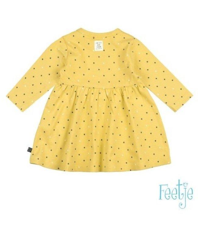 Feetje Feetje Stars jurkje geel 514.00348