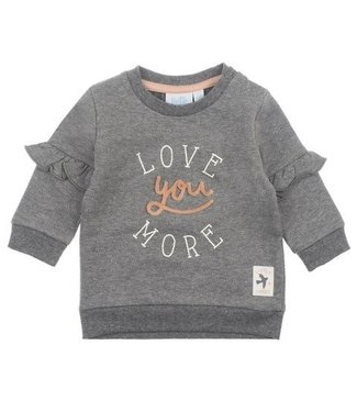 Feetje Feetje Little And Loved sweater love you antraciet melange 516.01543