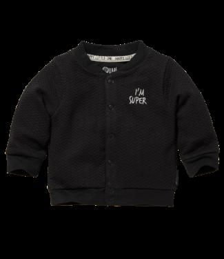 Quapi Quapi Newborn Jongens Zavi vestje dark grey