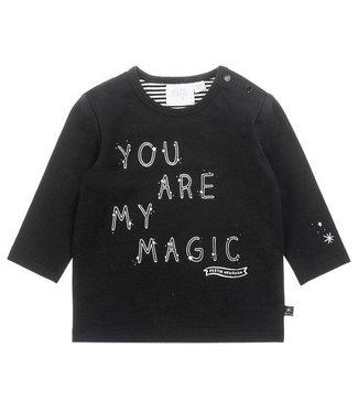 Feetje Feetje Hello World longsleeve my magic zwart 516.01491