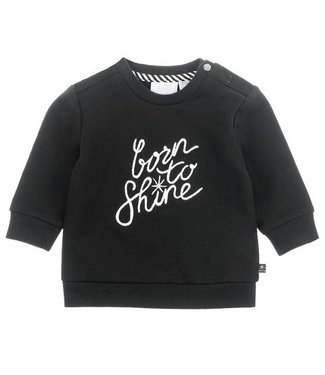 Feetje Feetje Hello World born to shine sweater zwart 516.01489