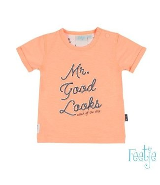 Feetje Feetje Mr Good looks t-shirt neon oranje 517.00534