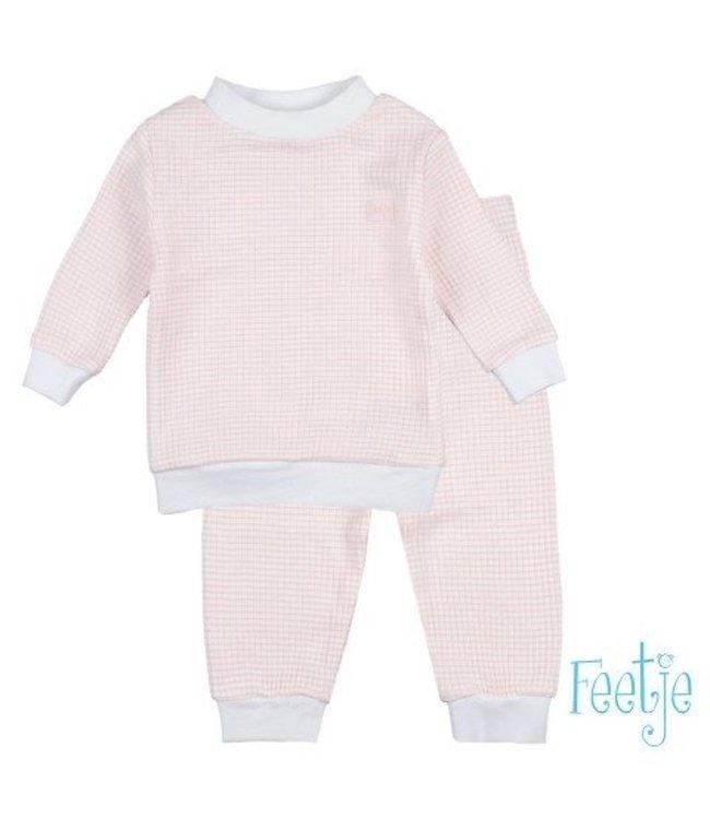 Feetje Feetje Pyjama wafel zalm roze 305.532