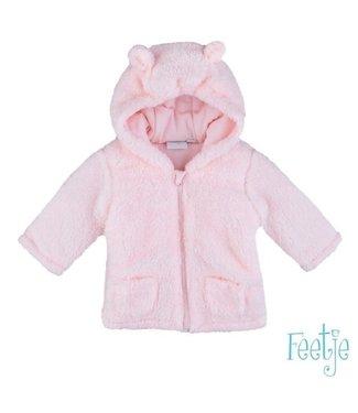 Feetje Feetje Teddy jasje met capuchon en oortjes roze 518.00167