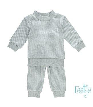 Feetje Feetje Pyjama wafel grijsmelee 305.533