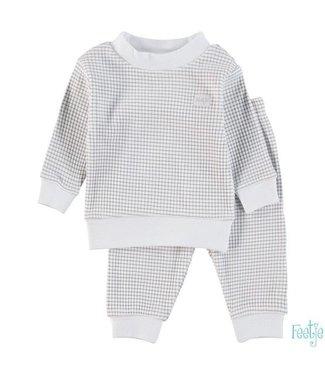 Feetje Feetje Pyjama wafel in grijs met witte achtergrond 305.532