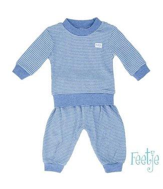 Feetje Feetje Pyjama wafel bluemelee 305.533