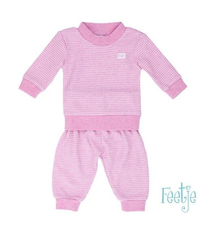 Feetje Feetje Pyjama wafel rozemelee 305.533