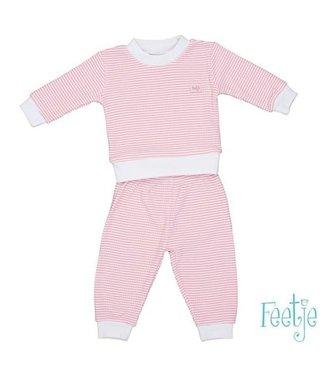 Feetje Feetje Pyjama wafel roze met witte achtergrond 305.532