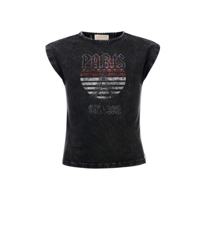 LOOXS 10Sixteen Acid wash T-shirt ACID BLACK