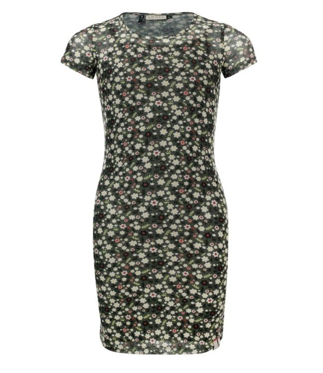 LOOXS 10Sixteen Printed mesh dress FORREST BLOSSOM 2111-5804-918