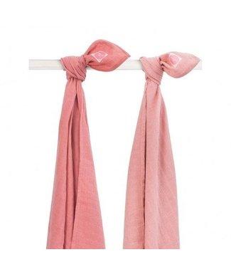 Jollein Jollein Hydrofiel multidoek 115x115cm Duo pink (2pack)