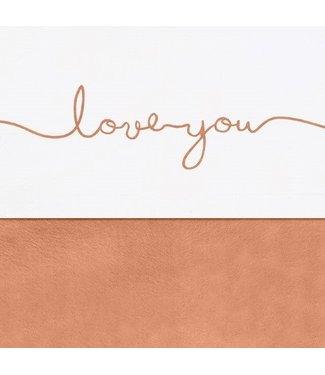 Jollein Jollein Laken Ledikant 120x150cm Love you caramel