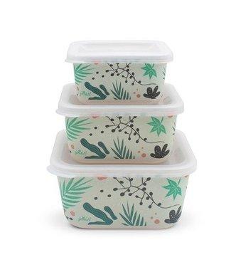 Jollein Jollein Snackbox bamboe Leaves (3pcs)