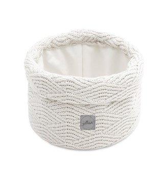 Jollein Jollein Mandje river knit cream white
