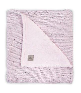 Jollein Jollein Deken 100x150cm Confetti knit vintage pink / teddy