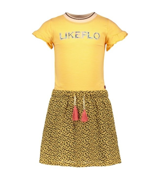 Like Flo Flo girls jersey dress with panter skirt F102-5852