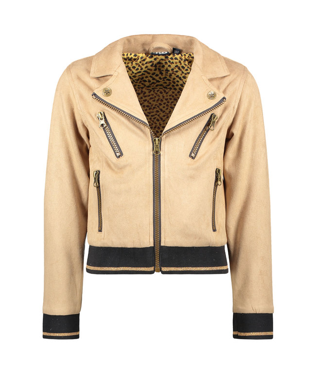 Like Flo Flo girls suede biker jacket F102-5210