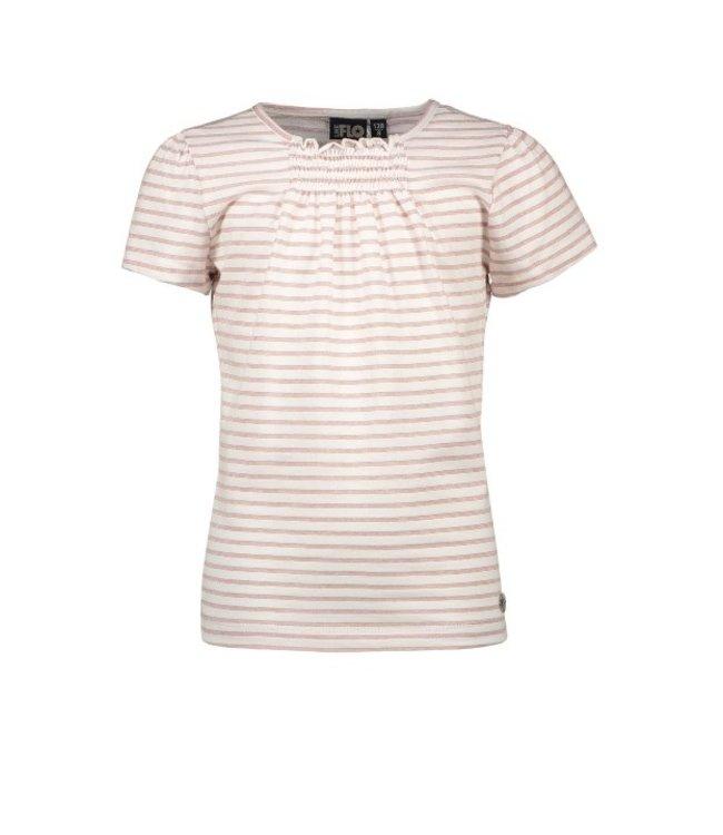 Like Flo Flo girls yd lurex stripe top Rose gold F102-5405
