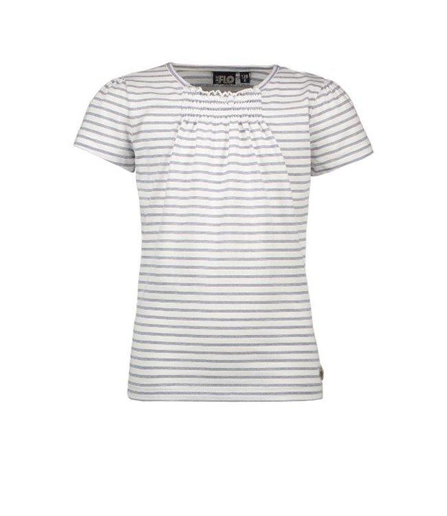 Like Flo Flo girls yd lurex stripe top Navy F102-5405