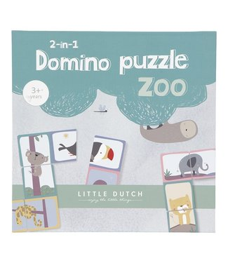 Little Dutch Little dutch domino puzzel Zoo