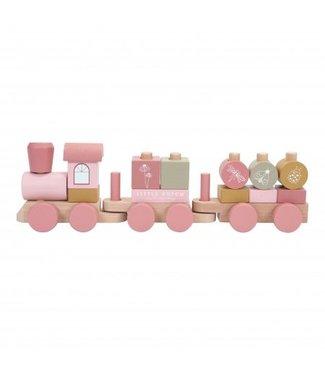 Little Dutch Little Dutch Blokkentrein hout  adventure pink